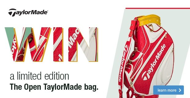 Win a limited edition TaylorMade The Open bag